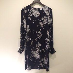 H&M Long Sleeve Floral Dress, Sz 10